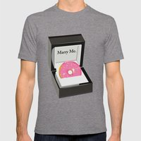Marry Me Mens Fitted Tee Tri-Grey SMALL