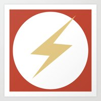 The Flash Vector Logo Art Print