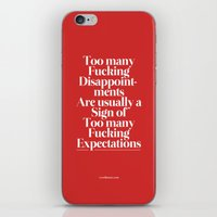 Disappointments iPhone & iPod Skin