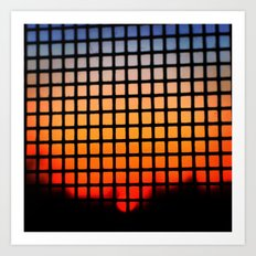 SUNSET SQUARES Art Print