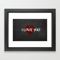 Valentines I Love You Ch… Framed Art Print