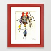 Death Chases Framed Art Print