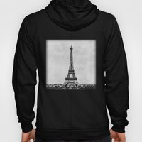 Eiffel Tower In Greyscal… Hoody