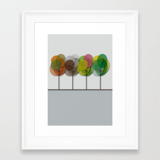 The Four Seasons Framed Art Print