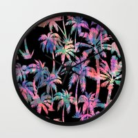 Maui Palm {Black} Wall Clock