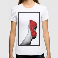 Red Cup Womens Fitted Tee Ash Grey SMALL