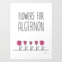 Daniel Keyes: Flowers for Algernon Art Print