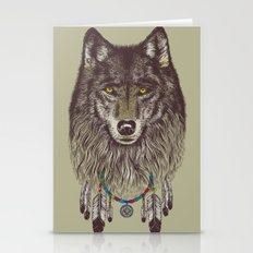 Wind Catcher Wolf Stationery Cards