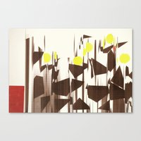 abstract blurred figures Canvas Print