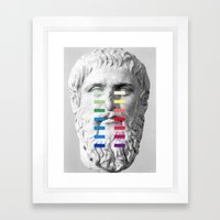 Sculpture With A Spectrum 1 Framed Art Print