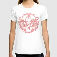 Killer Skull Red Womens Fitted Tee White SMALL