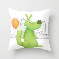 Feeling Green... Throw Pillow