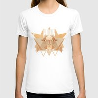 leothelion Womens Fitted Tee White SMALL