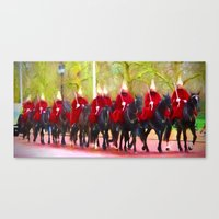 The Queens Life Guards O… Canvas Print