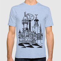 STHLM Silhouettes Mens Fitted Tee Athletic Blue SMALL