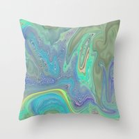 ABSTRACT KITTIE CAT FOR KIDS Throw Pillow