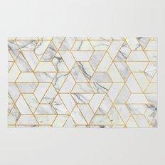 Marble hexagonal pattern Rug