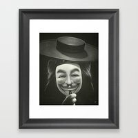 Anonymous II Framed Art Print