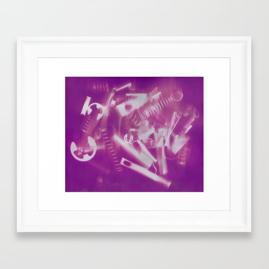 Mechanical Christmas Framed Art Print