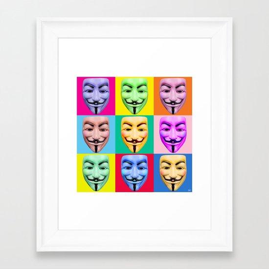 GUY FAWKES Framed Art Print