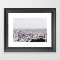 WINTER IN PARIS Framed Art Print