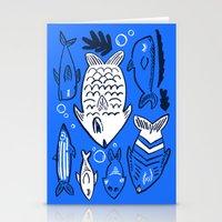 Poissons de La Mer Stationery Cards