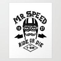 Mr. Speed Art Print