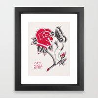 Butterfly Gal Framed Art Print