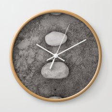 Lined up Wall Clock