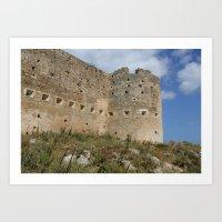 Mediterranean Fort Castle Art Print