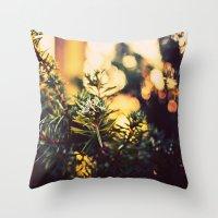 Evergreen Frost Throw Pillow