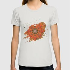 Psychedelicious Womens Fitted Tee Silver SMALL