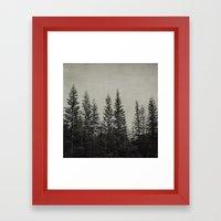 the edge of the forest Framed Art Print