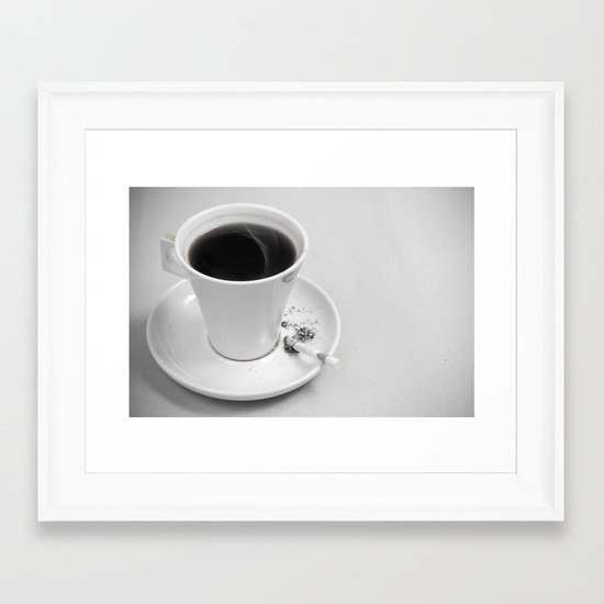 Coffee and Cigarette Framed Art Print