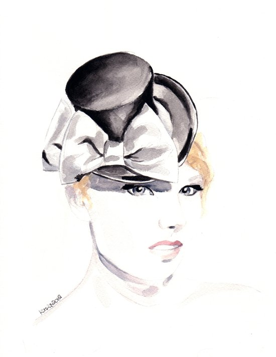 Ella Gajewska Hat. Top Hat. Fashion Illustration Art Print