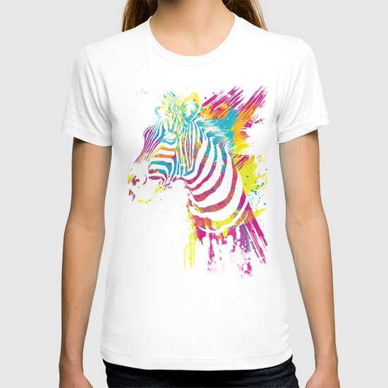 Zebra Splatters T-shirt