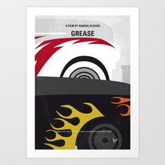 No674 My GREASE minimal movie poster Art Print