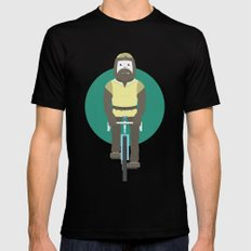 Cyclesquatch Black Mens Fitted Tee SMALL