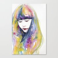 lime nights Canvas Print