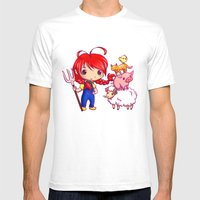Lotje and the farm animals Mens Fitted Tee White SMALL