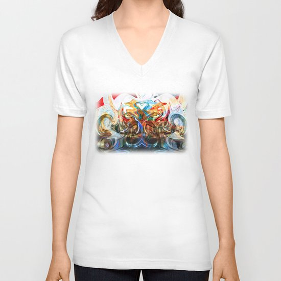 liquified space V-neck T-shirt