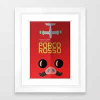 Porco Rosso - Miyazaki - Alternative Cartoon Poster Framed Art Print