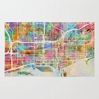 Chicago City Street Map Rug