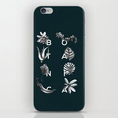 Botanica Letters | Forest Green iPhone & iPod Skin
