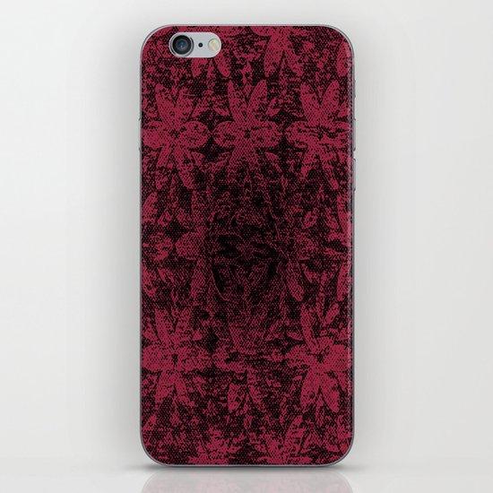 Pink Halftone Flowers iPhone & iPod Skin