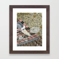 Autumn Picnic With My Ca… Framed Art Print