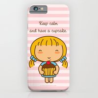 iPhone & iPod Case featuring Keep calm and have a cupcake. by Pigtails