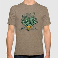 Zombie Cats Mens Fitted Tee Tri-Coffee SMALL