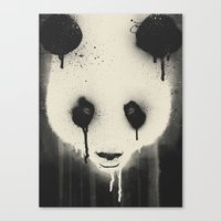 PANDA STARE Canvas Print
