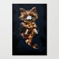 Rockets Raccoon Canvas Print
